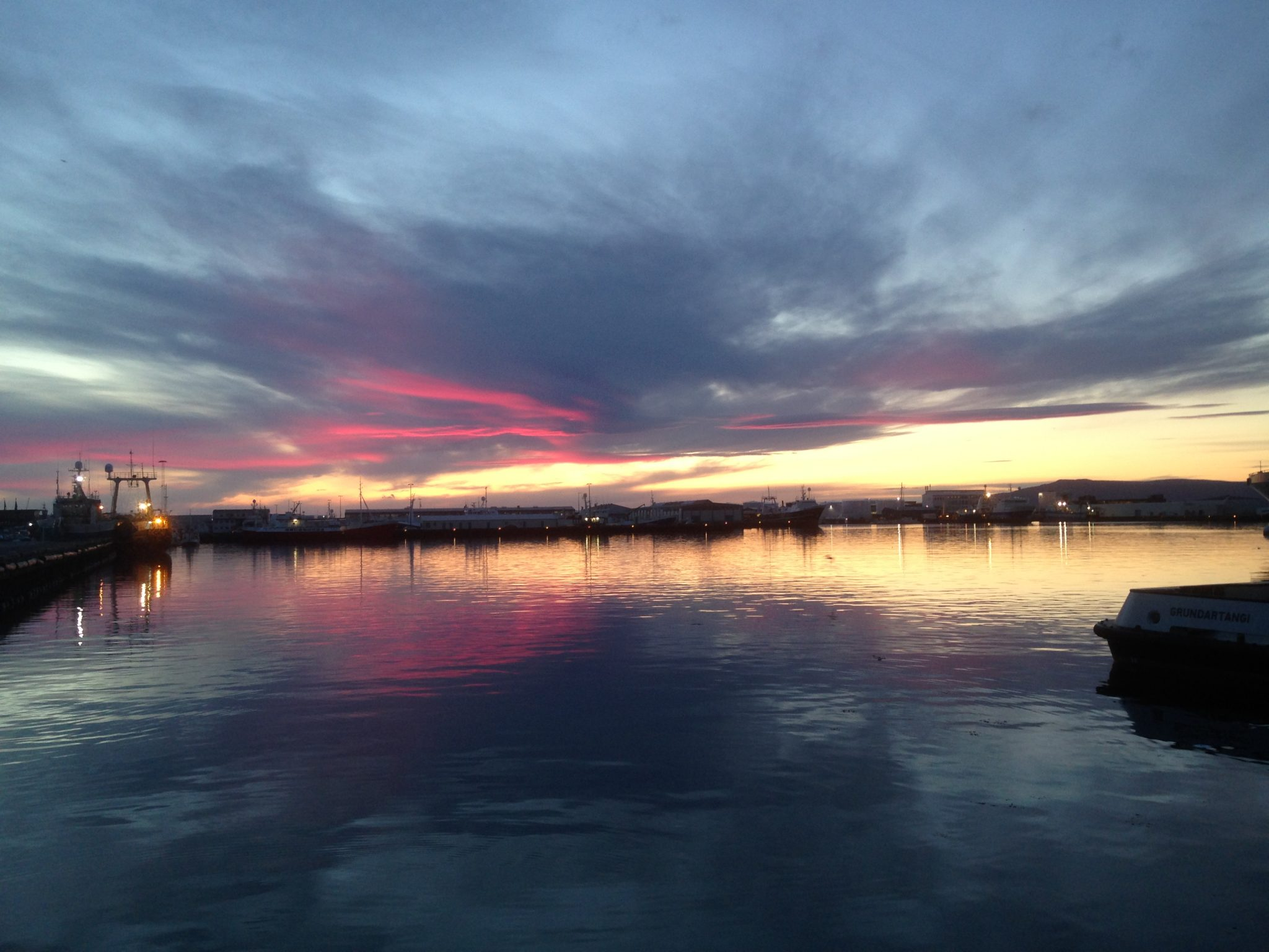 Reykjavik Midnight Sunset