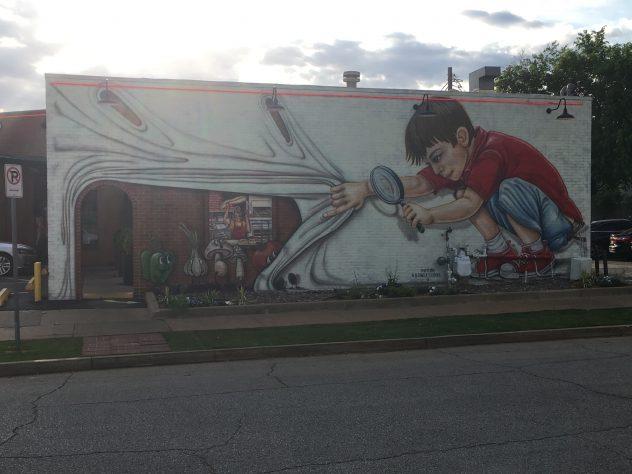 Old School Bagel Mural