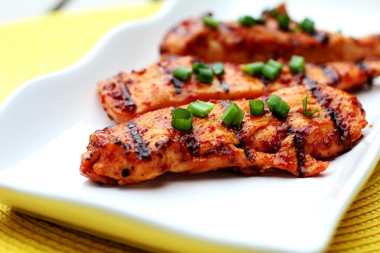 <strong>Chicken</strong> <hr> Thinner pieces cook faster and allow you to more evenly cook it through as well as preventing it from drying out.