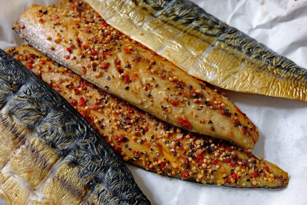 <strong>Mackerel</strong> <hr> May be a bit fishy for some. Good as sushi.