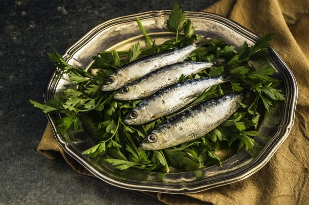 <strong>Sardines</strong> <hr> Buy fresh, frozen, or canned.