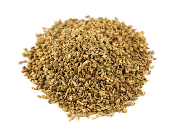 <strong>Ajwain</strong> <hr> Also known as Ajowan or Carom. Get whole seed. Dry roast in oil. Or use powder.