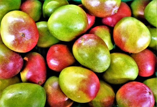 <strong>Mango</strong> <hr> One of my favorite fruits. Buy fresh or frozen. Pain to cut, so maybe get precut in chunks.