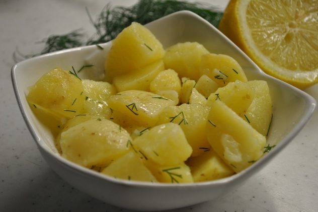 <strong>Potato Salad</strong> <hr> Cooked then chilled 24 hrs creates resistant starch which is more nutritious.
