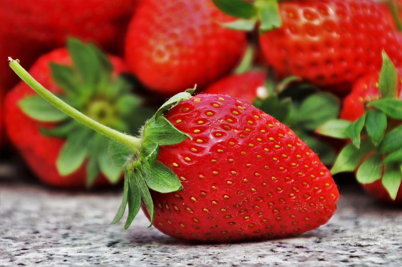 <strong>Strawberries</strong> <hr> Buy organic, conventional often contain pesticides.