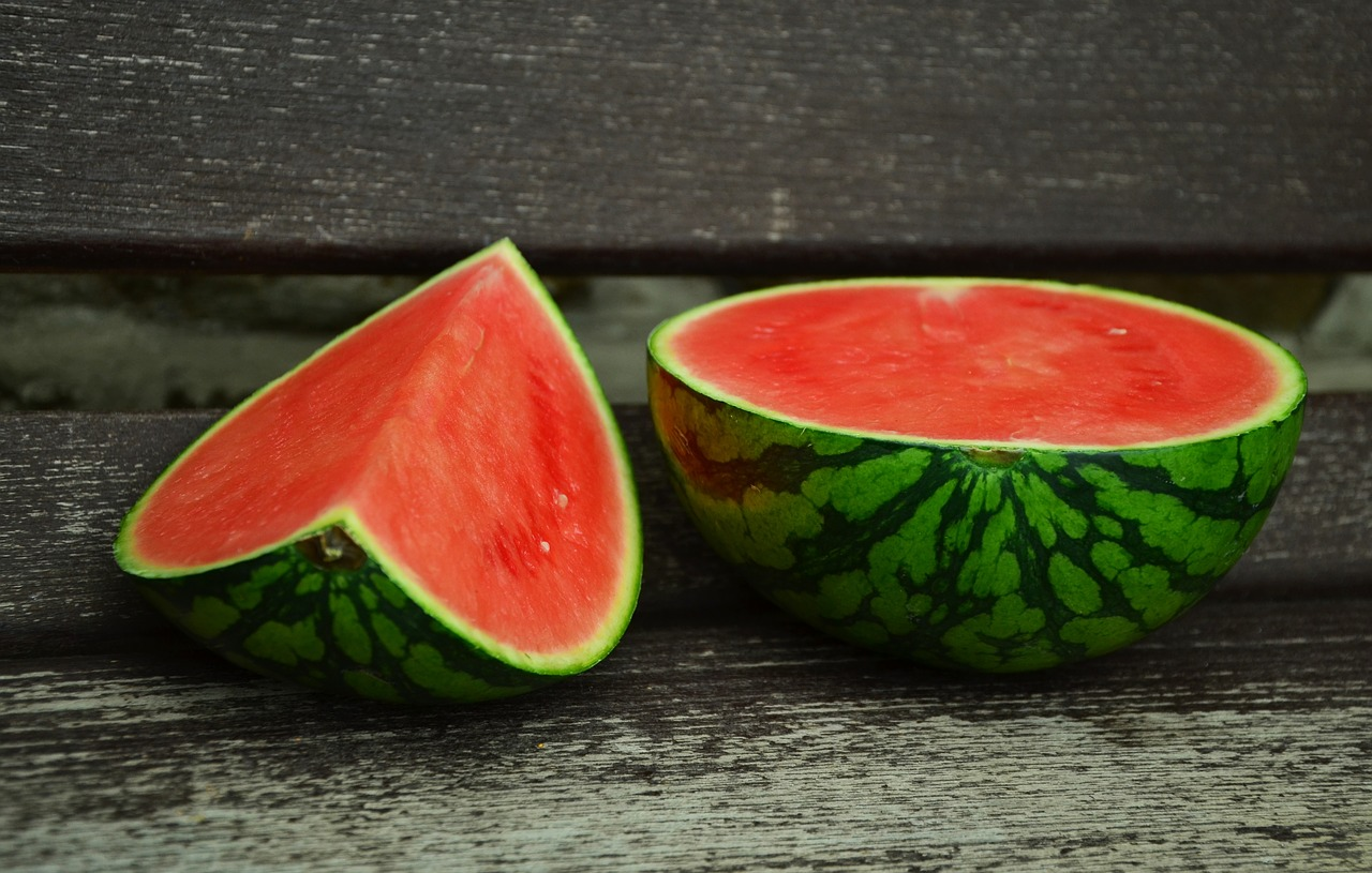 <strong>Watermelon</strong> <hr> Jam packed with water in this wonderfully sweet treat. Highest concentration of nutrients just under the rind.
